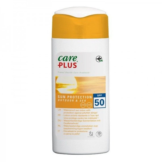 Wodoodporna emulsja do opalania  Care Plus Outdoor&Sea SPF 50+ 100ml